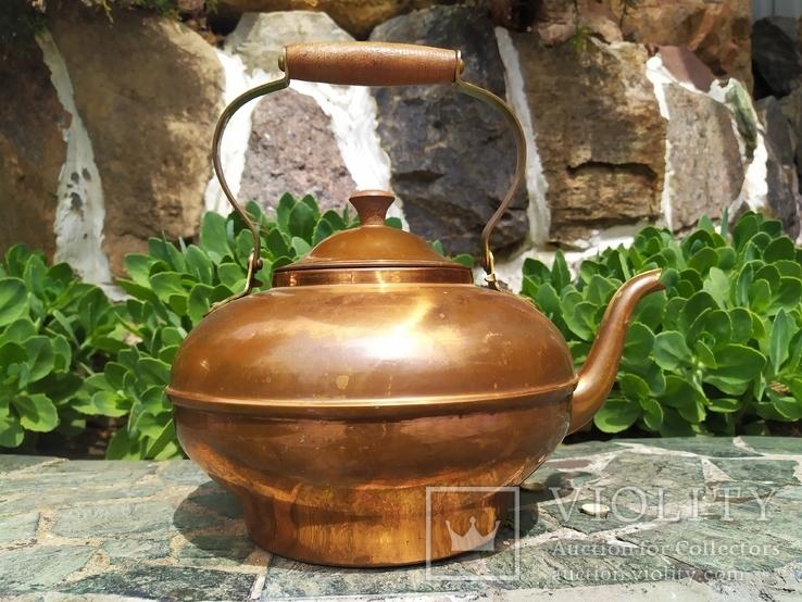 Чайник коллекционный Португалия клеймо медь, фото №2