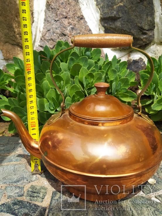 Чайник коллекционный Португалия клеймо медь, фото №8