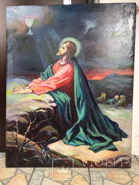 Икона Моление о чаше 92х71 см., фото №2