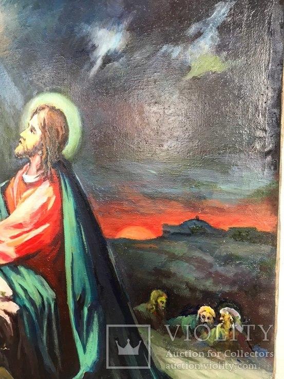 Икона Моление о чаше 92х71 см., фото №6