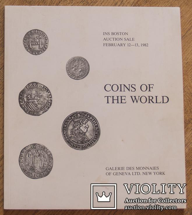 Каталог монет на Boston auction ''Coins of the World''