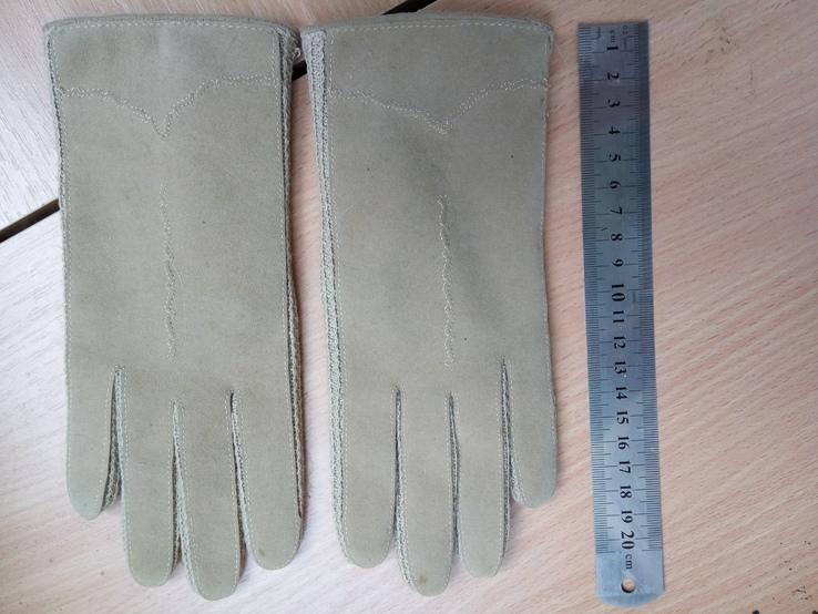 Перчатки замшевые, фото №3