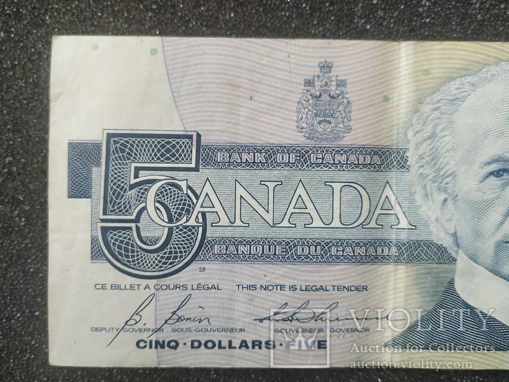 Канада Canada - Долар Dollar Доллар - 5 - P95 - 1986, фото №4