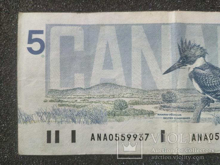 Канада Canada - Долар Dollar Доллар - 5 - P95 - 1986, фото №6