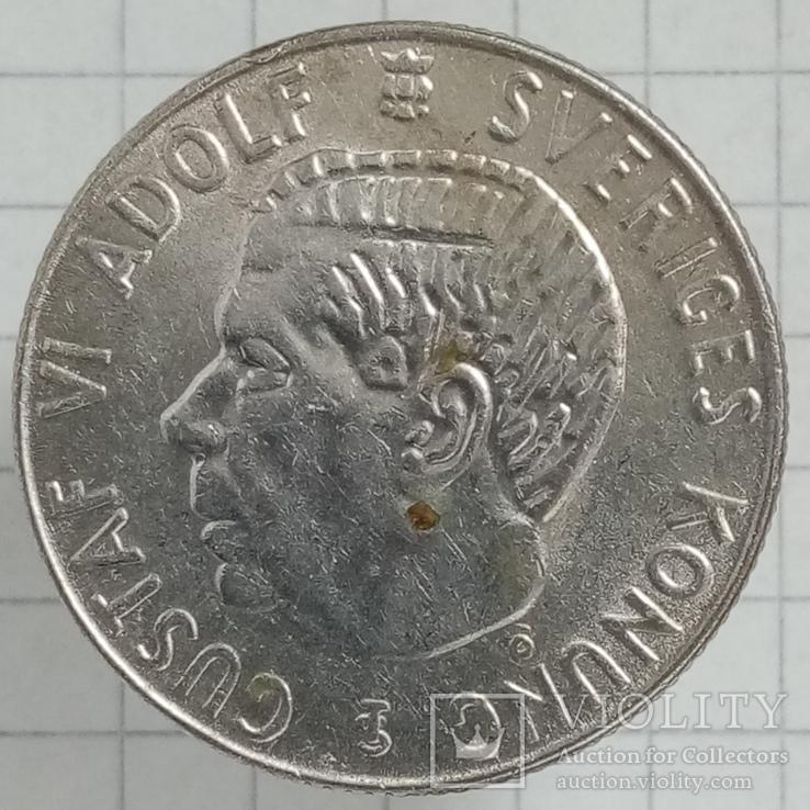 1 крона 1956г Швеция серебро, фото №3