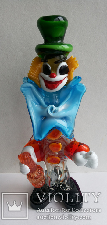 Клоун Муранское стекло Италия оригинал 1974 г, фото №3