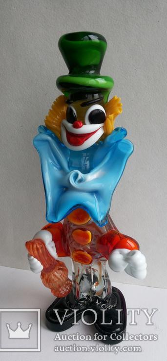 Клоун Муранское стекло Италия оригинал 1974 г, фото №4
