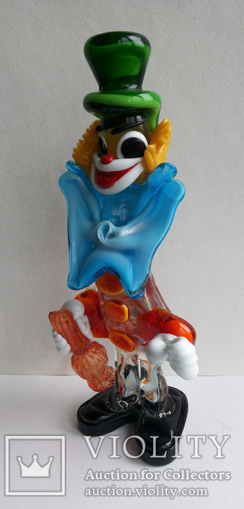 Клоун Муранское стекло Италия оригинал 1974 г, фото №5