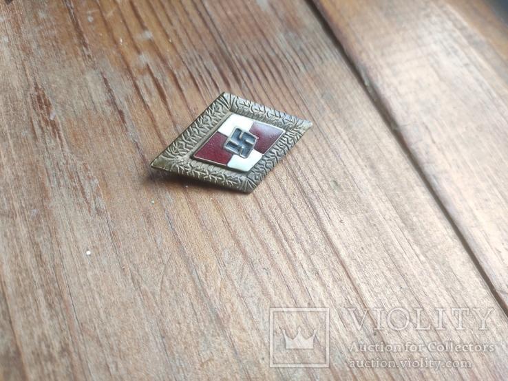 Знак ГЮ , качественная копия ,эмаль, клейма, 3 рейх, фото №3