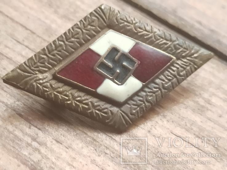 Знак ГЮ , качественная копия ,эмаль, клейма, 3 рейх, фото №2