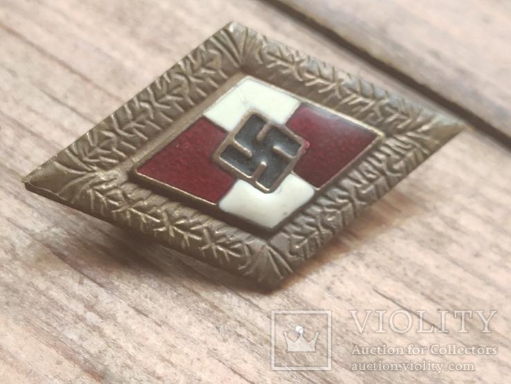 Знак ГЮ , качественная копия ,эмаль, клейма, 3 рейх, фото №4