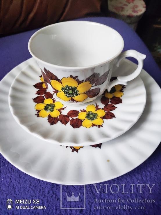 Чашка с блюдцем и тарелкой, фото №2