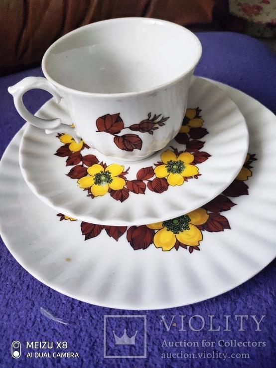 Чашка с блюдцем и тарелкой, фото №5