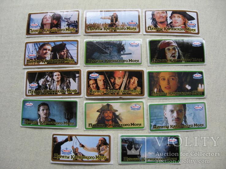 Вкладыши наклейки Пираты карибского моря 14 шт, фото №2