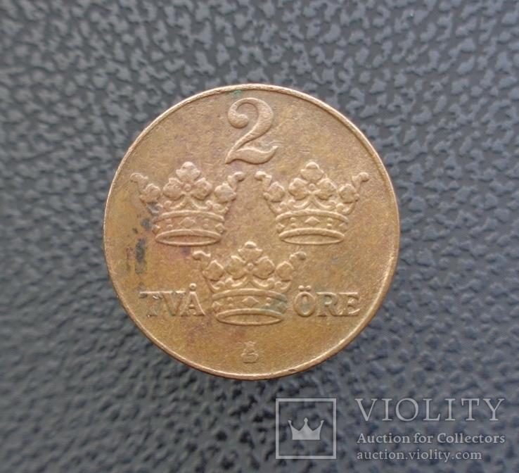 Швеция 2 эре 1942, фото №3