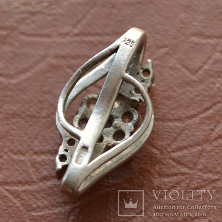 Кулон Цветок серебро, фото №6