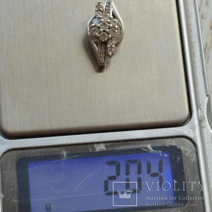 Кулон Цветок серебро, фото №7