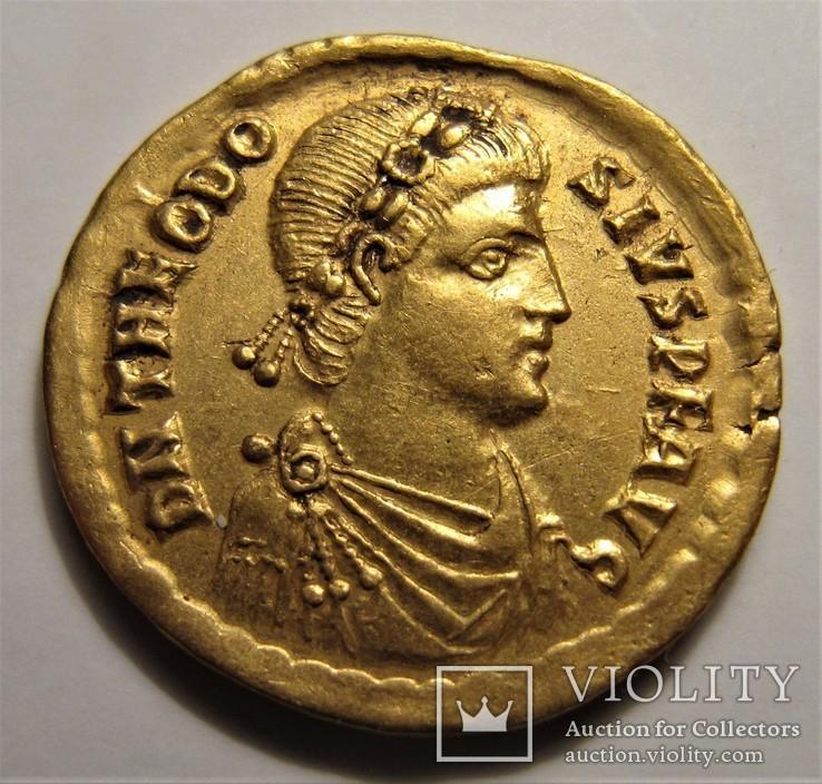 Феодосий I Великий, солид ,Римская империя .