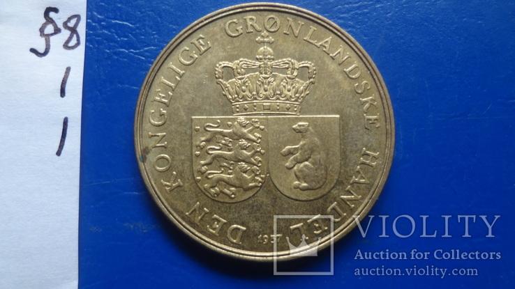 1  крона  1957 Гренландия   ($8.1.1)~, фото №4