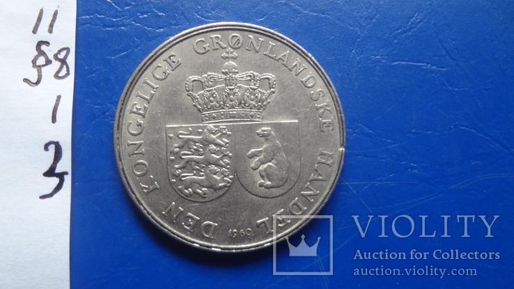 1  крона  1960   Гренландия   ($8.1.3)~, фото №4