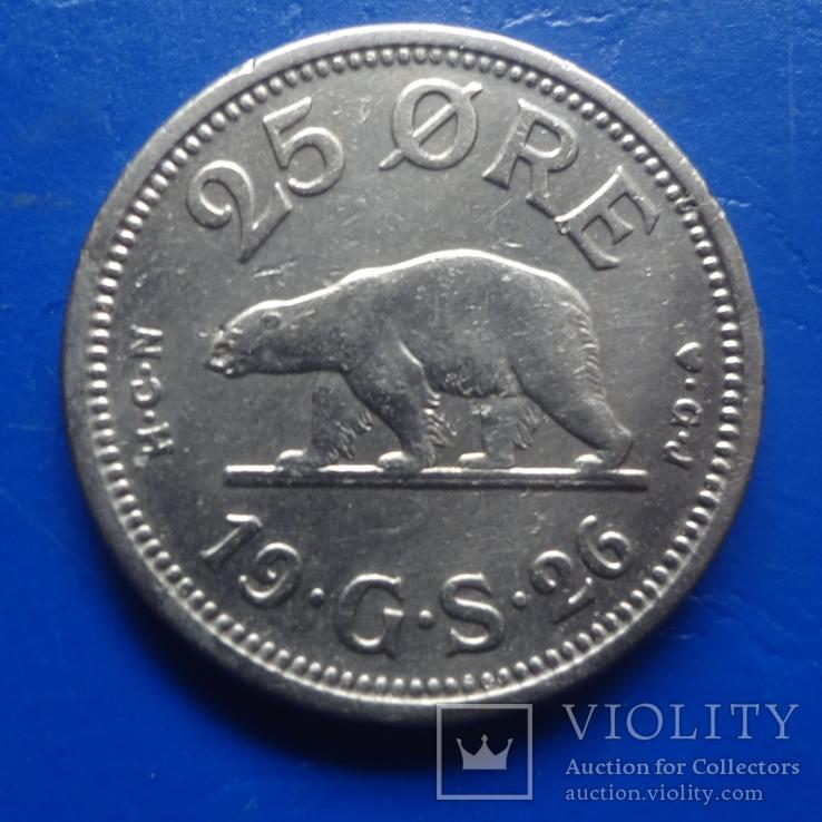 25  эре   1926   Гренландия   ($8.1.6)~, фото №2