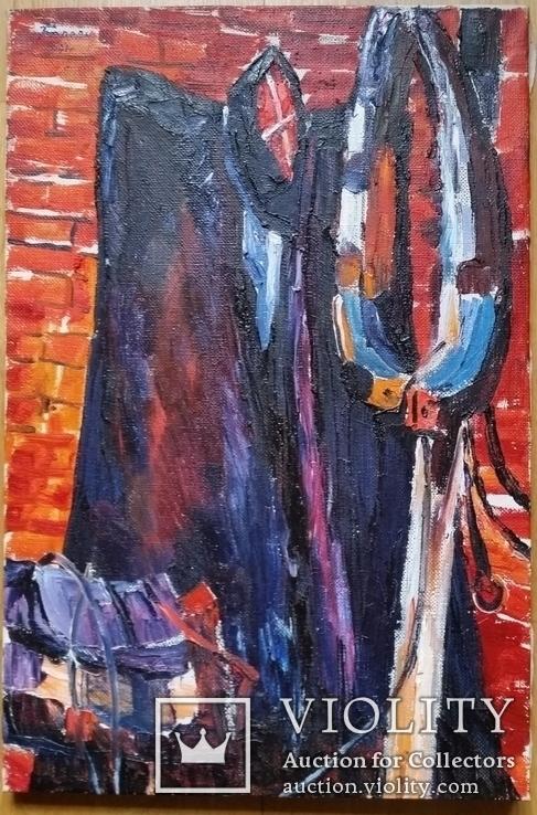 """Троян Г. """"Атрибути кубанського козака"""", 1991р., 59х40 см, фото №2"""