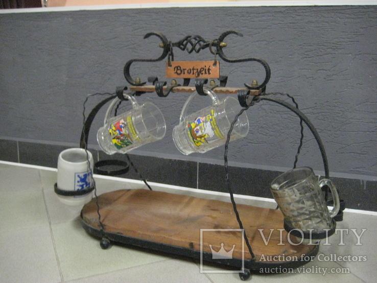 Подставка для пивных бокалов 80*50*30см, фото №2