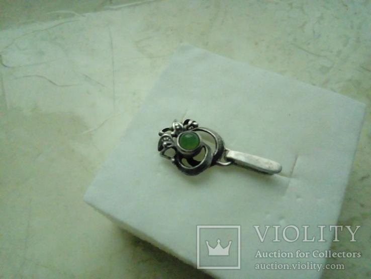 Підвіс срібний 875 СССР із самоцвітом, фото №2