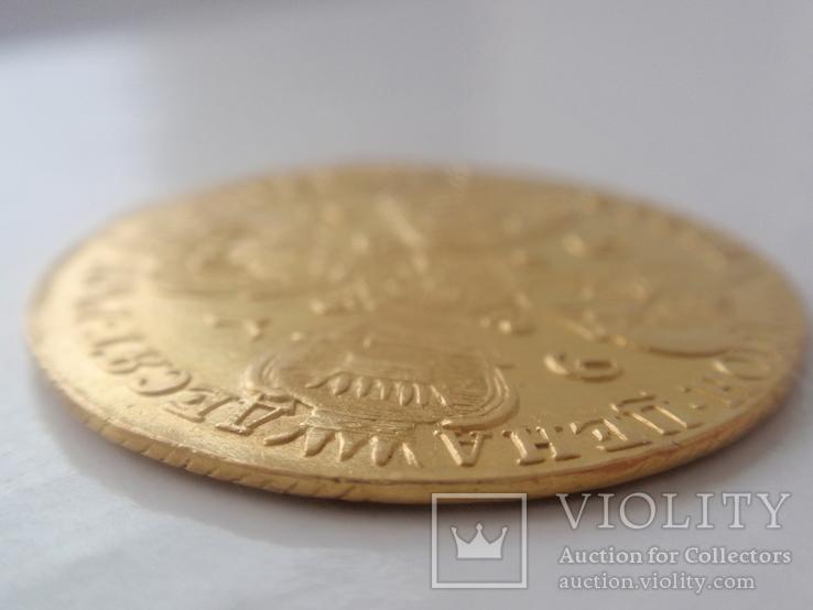 10 рублей 1766 года СПБ. тираж 159133 шт, фото №5