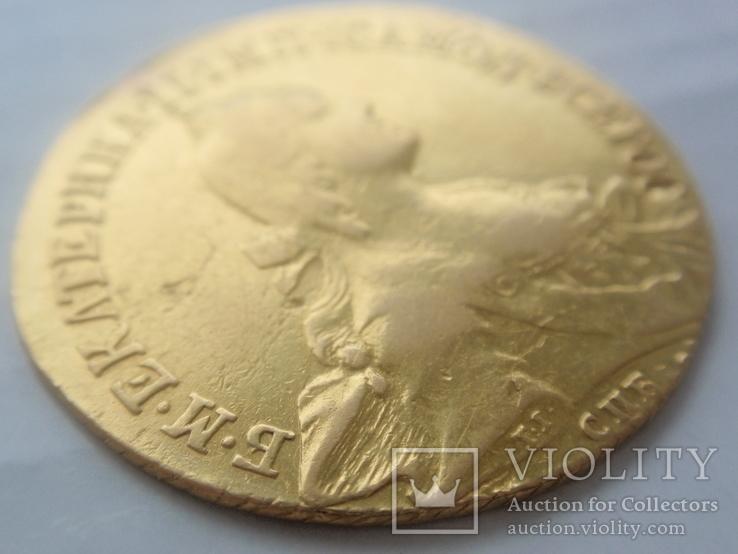 10 рублей 1766 года СПБ. тираж 159133 шт, фото №8