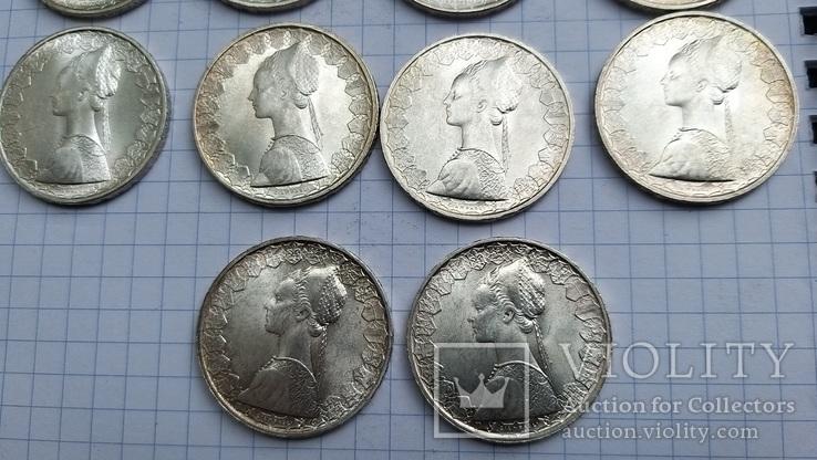 500 лир Италия 1958 год (10 штук), фото №6