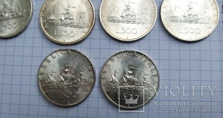500 лир Италия 1958 год (10 штук), фото №8
