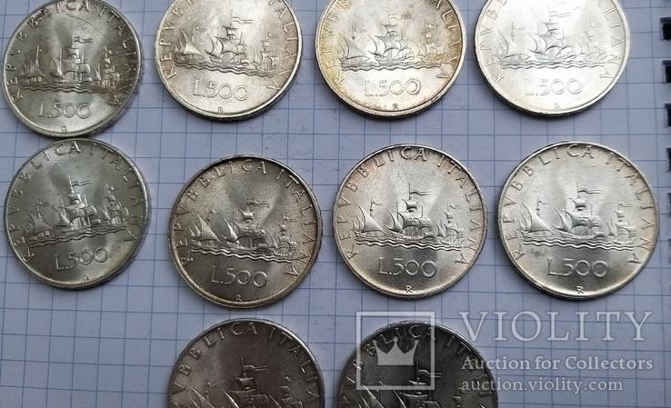 500 лир Италия 1958 год (10 штук), фото №9