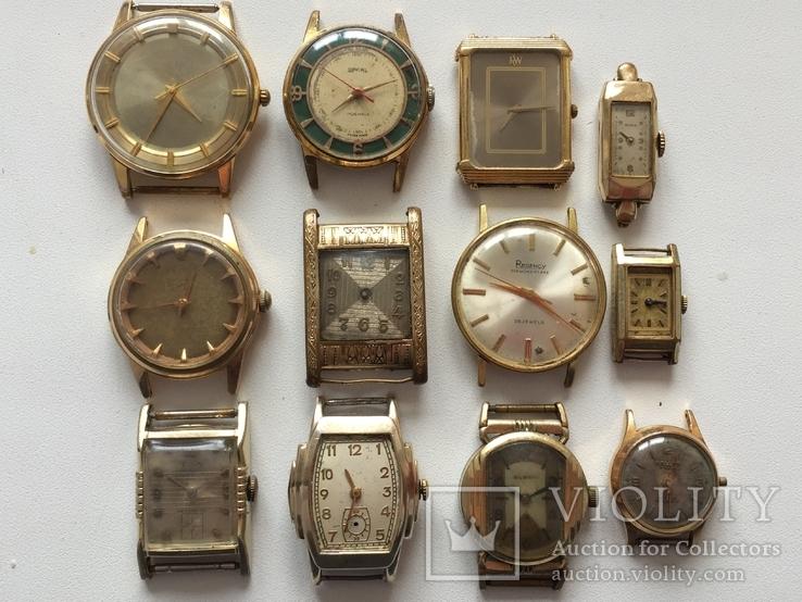 Импортные Позолоченные Часы 12 шт