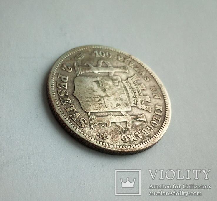 Испания 2 песеты 1870 г., фото №8