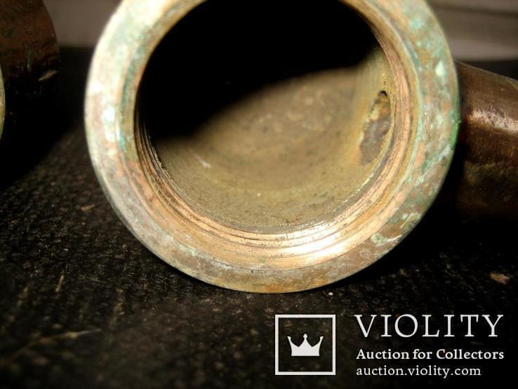 Старовинний бронзовий рукимийник (накручувати на трубу), фото №8