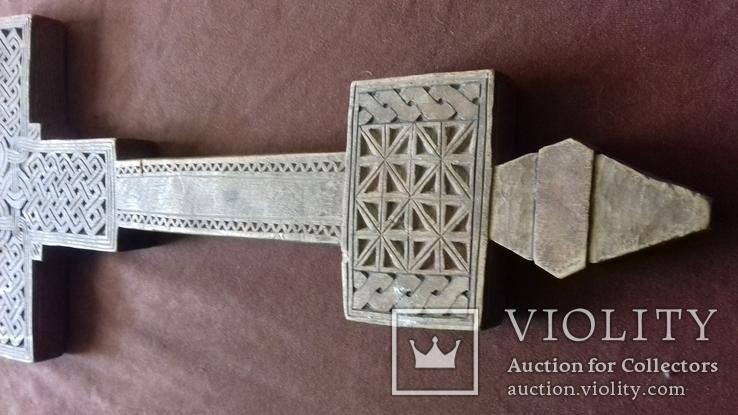 Різьблений дерев'яний хрест., фото №4