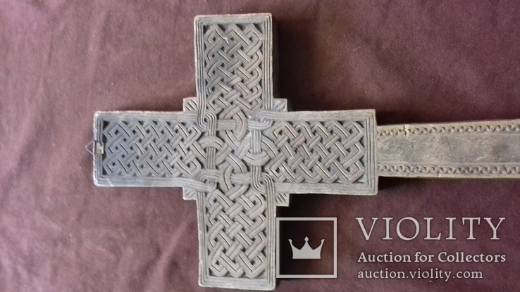 Різьблений дерев'яний хрест., фото №5