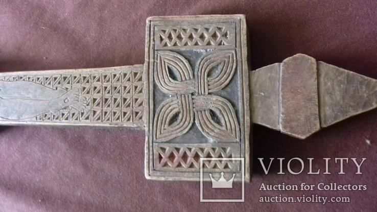 Різьблений дерев'яний хрест., фото №10