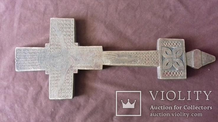 Різьблений дерев'яний хрест., фото №11