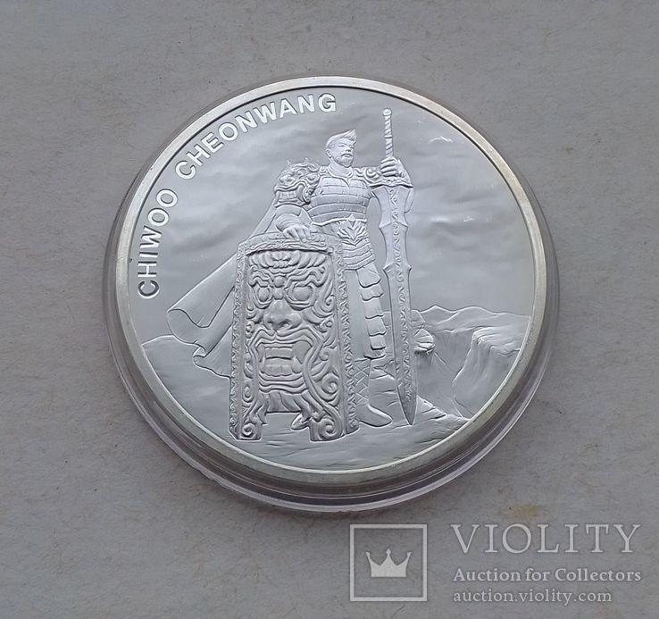 2019 г - 1 клай Южная Корея,Воин Чиву,унция серебра в капсуле, фото №5