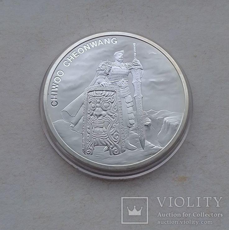 2019 г - 1 клай Южная Корея,Воин Чиву,унция серебра в капсуле, фото №7