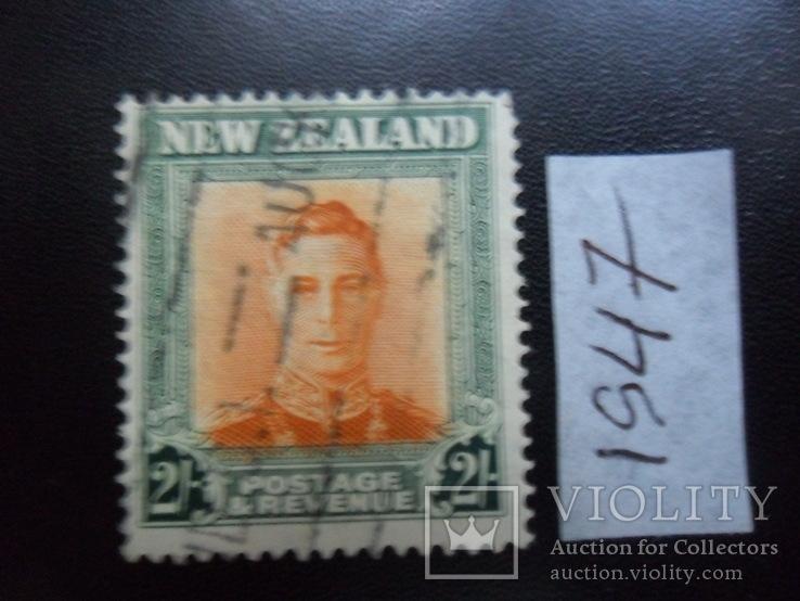 Британские колонии. Новая Зеландия. 1947 г. 2- шилинга гаш