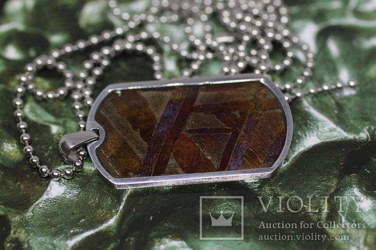 Кулон- жетон з метеоритом Seymchan, з сертифікатом, фото №5
