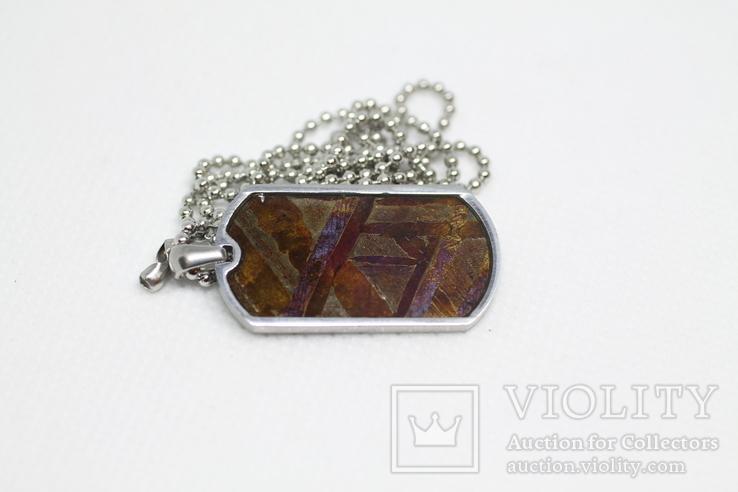 Кулон- жетон з метеоритом Seymchan, з сертифікатом, фото №7