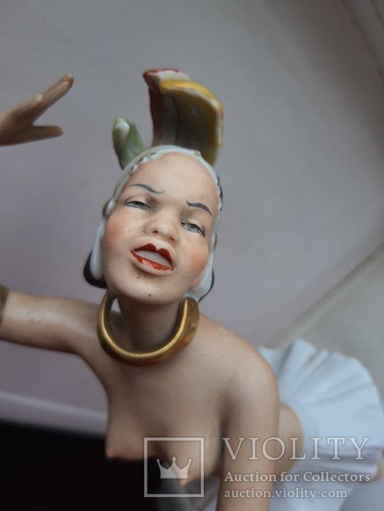 Статуэтка фарфоровая Девушка Негритянка Wallendorf, фото №3