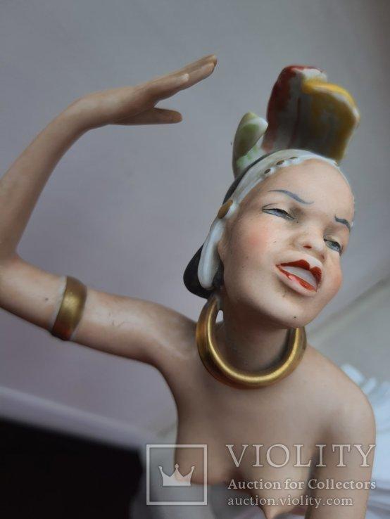 Статуэтка фарфоровая Девушка Негритянка Wallendorf, фото №5