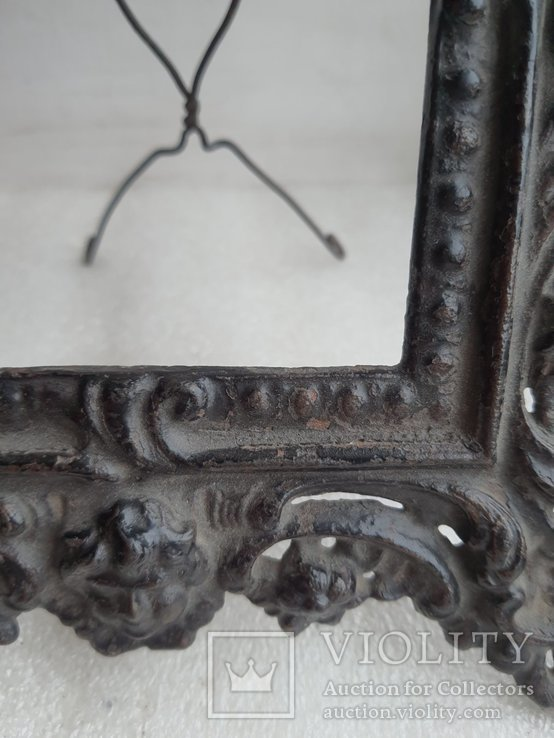 Старинная чугунная рамка под фото конец 19 века, фото №10
