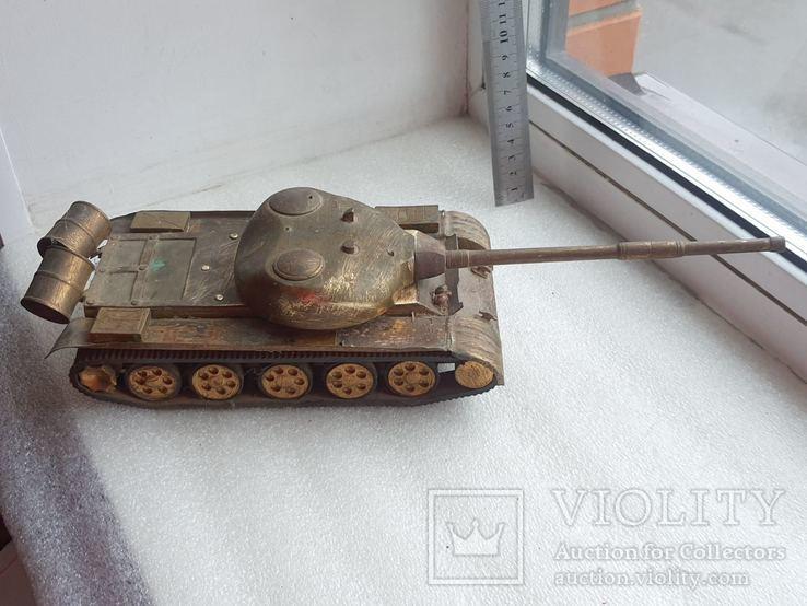 Скульптура-модель бронзового танка Тяжелый больше 5 кг, фото №2