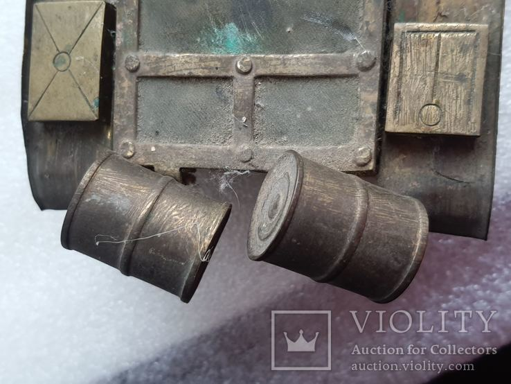 Скульптура-модель бронзового танка Тяжелый больше 5 кг, фото №4